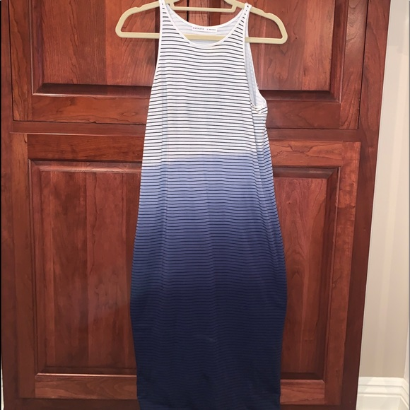 Athlete dress ombré/stripes